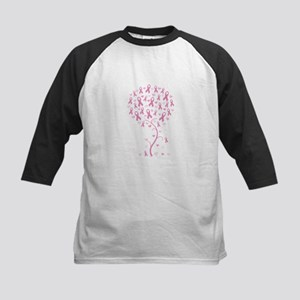 Pink Ribbon Breast Cancer Tre Kids Baseball Jersey