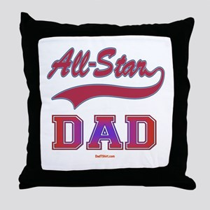 All Star Dad Father's Day Throw Pillow