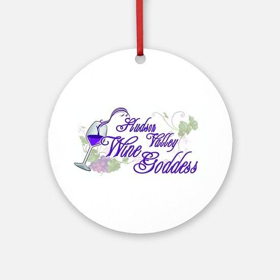 Hudson Valley Wine Goddess Ornament (Round)