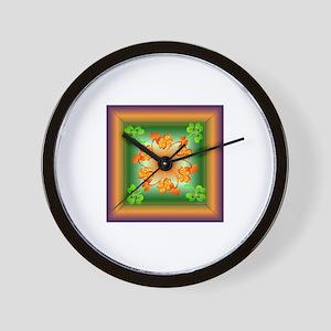 Nature Mandala Wall Clock