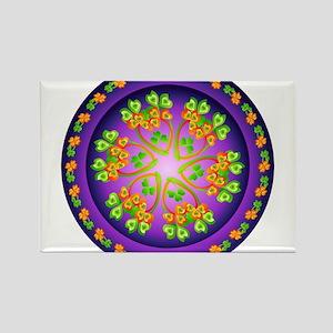 Nature Mandala Rectangle Magnet
