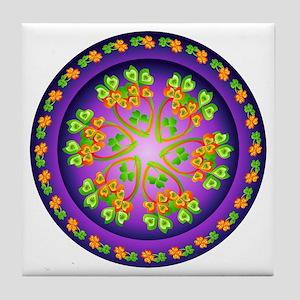Nature Mandala Tile Coaster