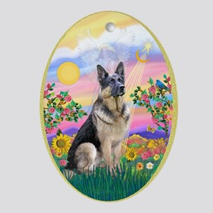 Guardian - German Shepherd Ornament (Oval)