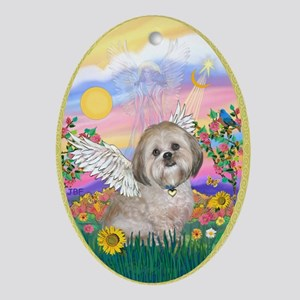 Guardian - Lhasa Apso Ornament (Oval)