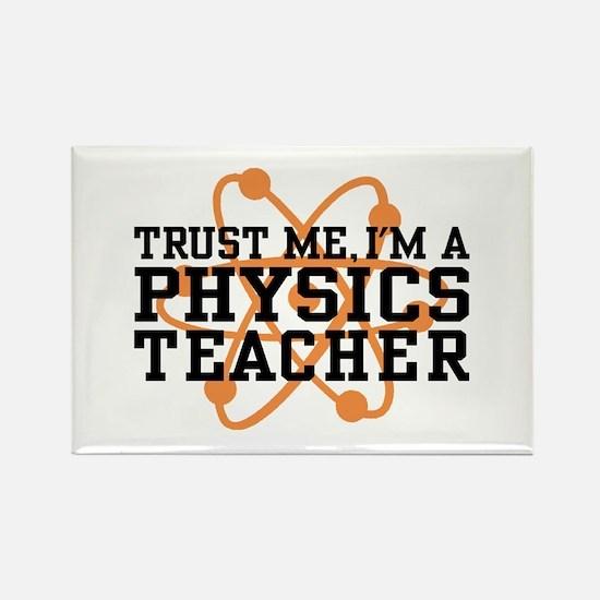 Physics Teacher Rectangle Magnet