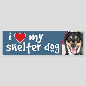 Shelter Dog-German Shepherd Bumper Sticker