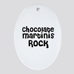 Chocolate Martinis Rock Oval Ornament