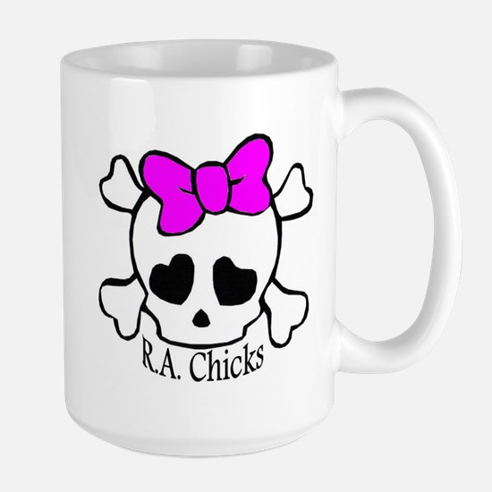 RA Chicks Cute Skull Mugs