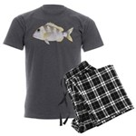Jolthead Porgy Men's Charcoal Pajamas