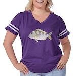 Jolthead Porgy Women's Plus Size Football T-Shirt