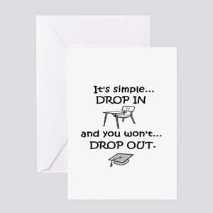 DROP IN and you won't DROP OU Greeting Card