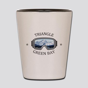 Triangle Sports Area - Green Bay - Wi Shot Glass