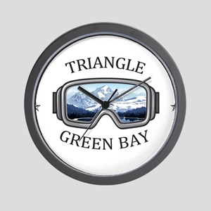 Triangle Sports Area - Green Bay - Wi Wall Clock