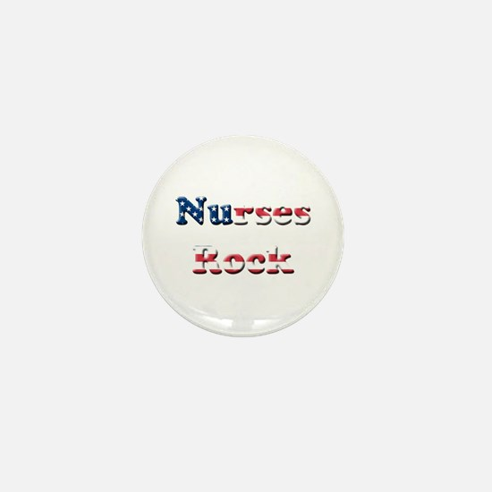 Funny School nurse Mini Button