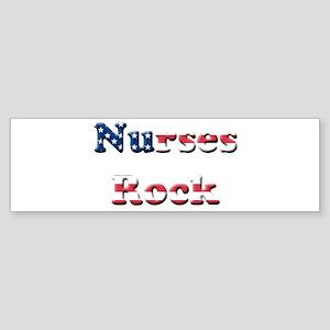 nurses rock rwb Bumper Sticker