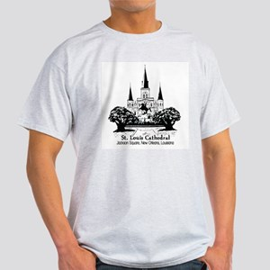 St. Louis Cathedral, Jackson Ash Grey T-Shirt