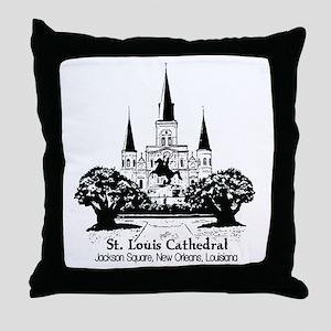 St. Louis Cathedral, Jackson  Throw Pillow