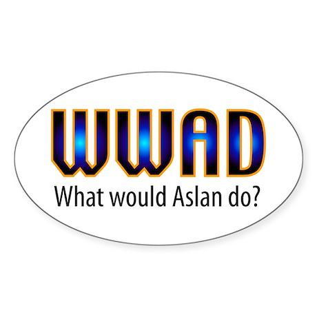 WWAD Oval Sticker