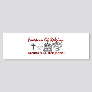 Freedom Of Religion Bumper Sticker