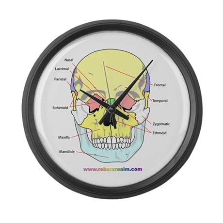Skull Bones (front view) Large Wall Clock