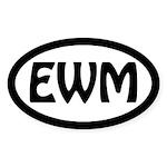 Exploring Western Mass. Oval Sticker