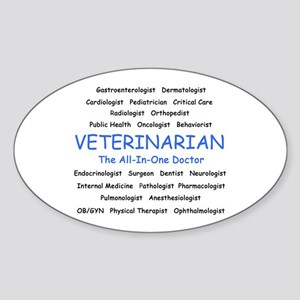 Veterinarian TheAllInOneDoctor Sticker (Oval)