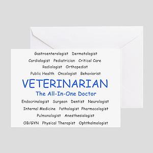 Veterinarian TheAllInOneDoctor Greeting Card
