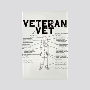 Veteran Vet Female Rectangle Magnet