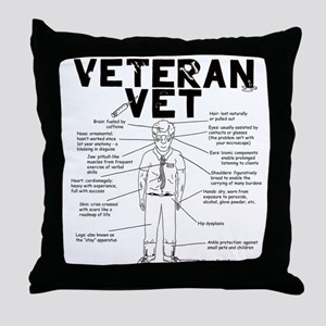 Veteran Vet Male Throw Pillow