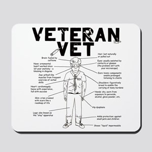 Veteran Vet Male Mousepad