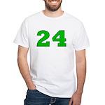 Twenty-four Green/Blue White T-Shirt