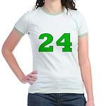 Twenty-four Green/Blue Jr. Ringer T-Shirt