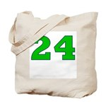 Twenty-four Green/Blue Tote Bag
