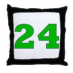 Twenty-four Green/Blue Throw Pillow