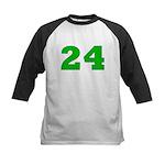 Twenty-four Green/Blue Kids Baseball Jersey