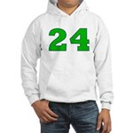 Twenty-four Green/Blue Hooded Sweatshirt