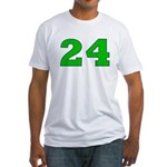 Twenty-four Green/Blue Fitted T-Shirt