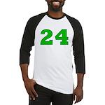 Twenty-four Green/Blue Baseball Jersey