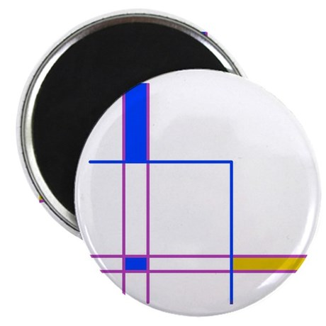 Modern Plaid Magnet