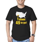 1 down 49 to go Men's Fitted T-Shirt (dark)