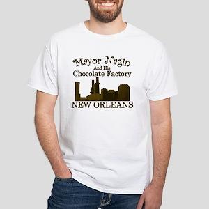 Mayor Nagin Chocolate Factory White T-Shirt