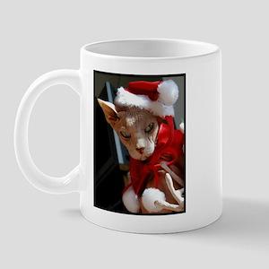 Sphynx Hairless cat Santa Mug