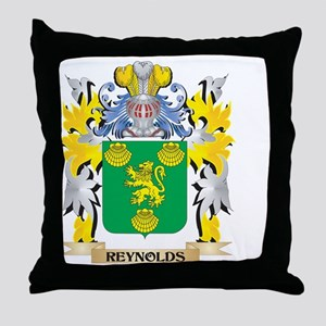 Reynolds Family Crest - Coat of Arms Throw Pillow