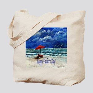 Happy Fathers Day Fishing Bea Tote Bag