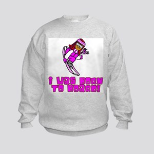 Born to Board Emma Kids Sweatshirt
