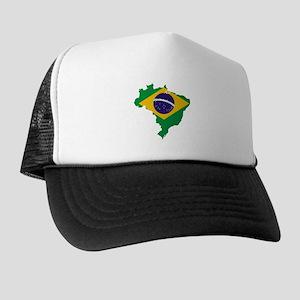 Brazil Flag/Map Trucker Hat