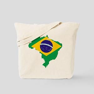Brazil Flag/Map Tote Bag