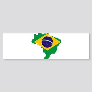 Brazil Flag/Map Sticker (Bumper)