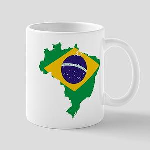 Brazil Flag/Map Mug