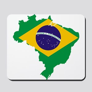 Brazil Flag/Map Mousepad